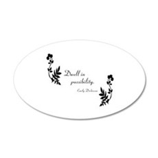 Dwell in Possibility 22x14 Oval Wall Peel