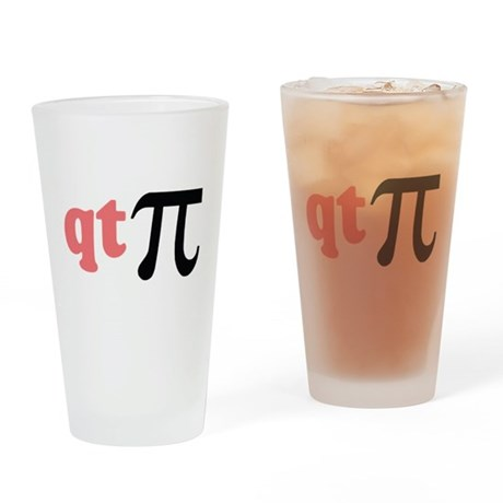 Math Humor QT Pi Drinking Glass
