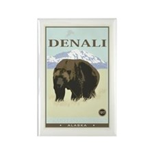 National Parks - Denali Rectangle Magnet