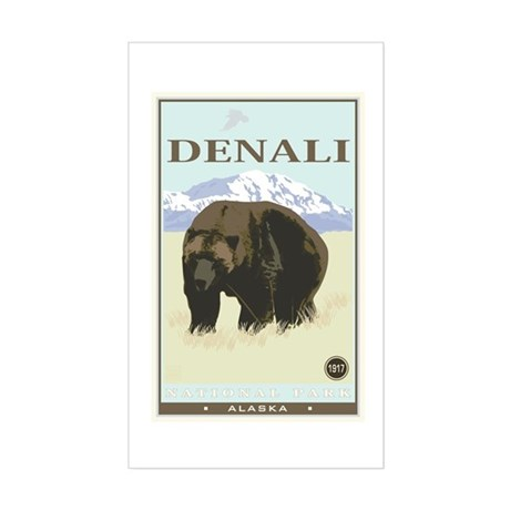 National Parks - Denali Sticker (Rectangle)