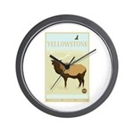 National Parks - Yellowstone Wall Clock