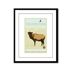 National Parks - Yellowstone Framed Panel Print