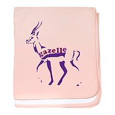 Gazelle baby blanket