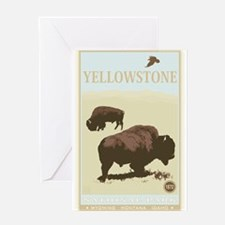 National Parks - Yellowstone Greeting Card