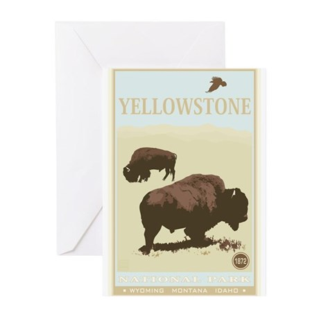National Parks - Yellowstone Greeting Cards (Pk of