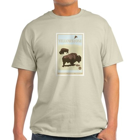 National Parks - Yellowstone Light T-Shirt