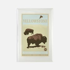 National Parks - Yellowstone Rectangle Magnet