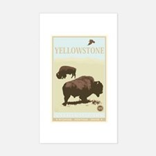 National Parks - Yellowstone Sticker (Rectangle)