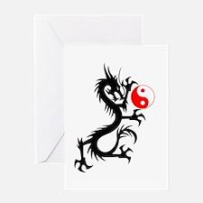Yin Yang Dragon Greeting Card