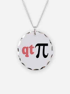 Math Humor QT Pi Necklace