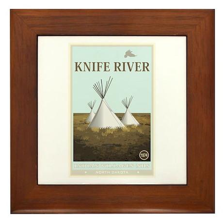 National Parks - Knife River Framed Tile