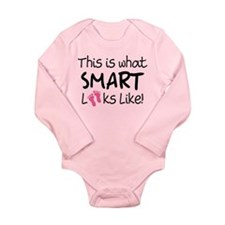 What Smart Looks Like Girls Long Sleeve Infant Bod