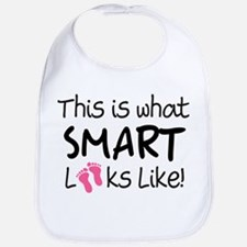What Smart Looks Like Girls Bib