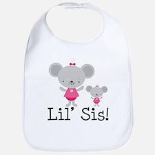 Little Sister Pink Mouse Bib