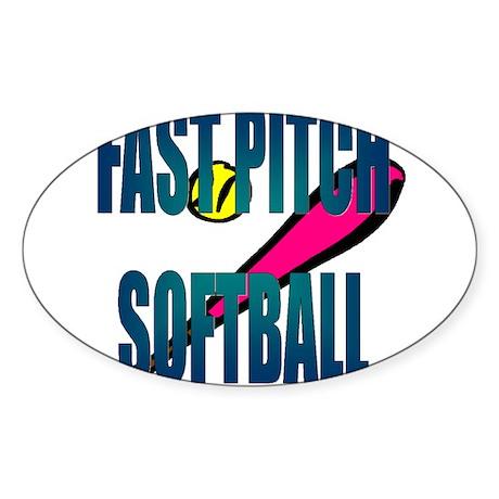 Softball FastPitch Oval Sticker