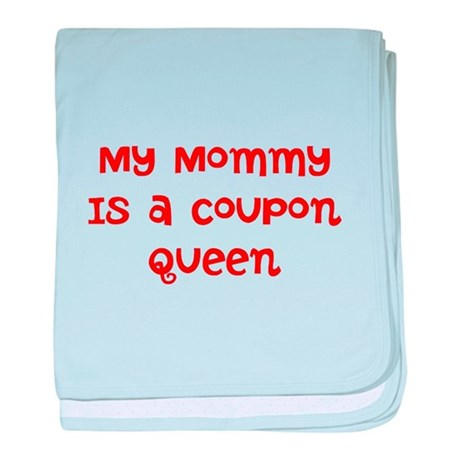 My Mommy is a coupon queen baby blanket