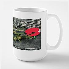 Wreath and ANZAC Day Poppies Mug