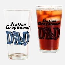 Italian Greyhound DAD Drinking Glass