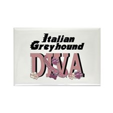 Italian Greyhound DIVA Rectangle Magnet