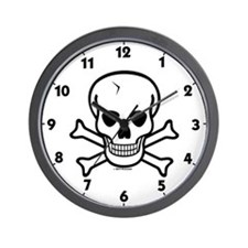 Skull & Cross Bones Wall Clock