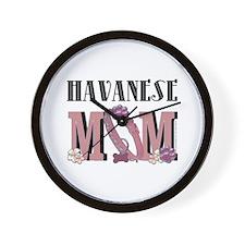 Havanese MOM Wall Clock