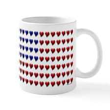 American flag mug (unique hearts design)