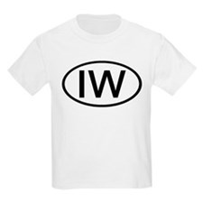IW - Initial Oval Kids T-Shirt
