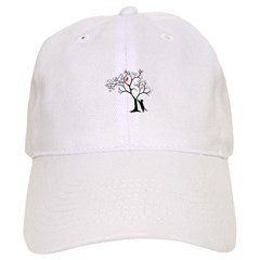 Red Bird in Tree with Cat Baseball Cap