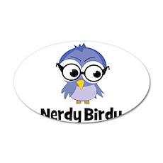 Nerdy Birdy 22x14 Oval Wall Peel