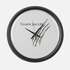 Cute Team jacob Large Wall Clock