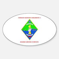 SSI-COMBAT LOGISTICS RGT 1 HQ COY WITH TEXT Sticke