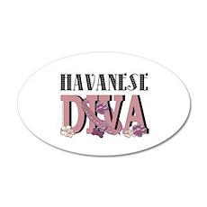 Havanese DIVA 22x14 Oval Wall Peel