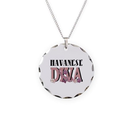 Havanese DIVA Necklace Circle Charm