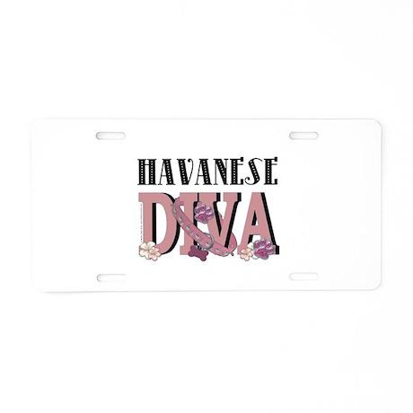Havanese DIVA Aluminum License Plate