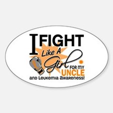 Fight Like a Girl Leukemia Sticker (Oval)