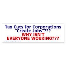 $4.99 Tax Cuts for Corporations BumperBumper Sticker