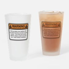 Warning Label Drinking Glass
