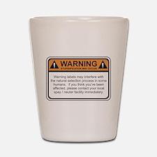 Warning Label Shot Glass