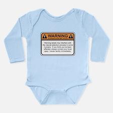 Warning Label Long Sleeve Infant Bodysuit