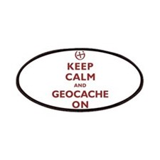 Keep Calm and Geocache On Patches