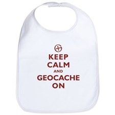 Keep Calm and Geocache On Bib