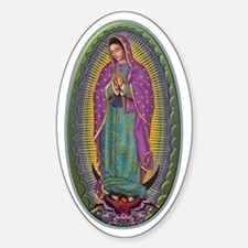 15 Lady of Guadalupe Sticker (Oval 10 pk)
