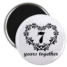 7th Anniversary Heart Magnet