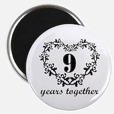 9th Anniversary Heart Magnet