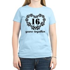 16th Anniversary Heart T-Shirt
