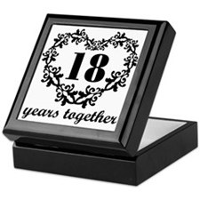 18th Anniversary Heart Keepsake Box
