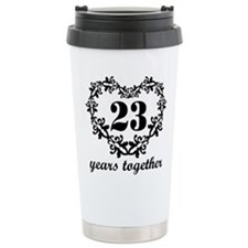 23rd Anniversary Heart Travel Mug