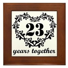 23rd Anniversary Heart Framed Tile