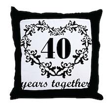 40th Anniversary Heart Throw Pillow