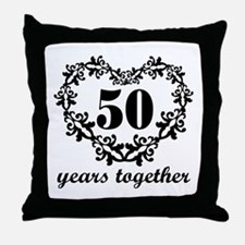 50th Anniversary Heart Throw Pillow